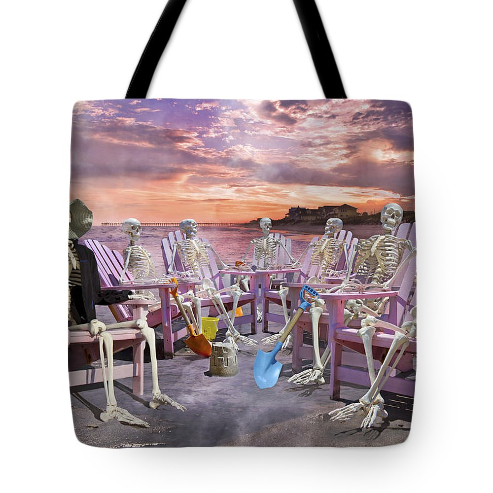 Humans Tote Bag featuring the photograph Beach Committee by Betsy Knapp
