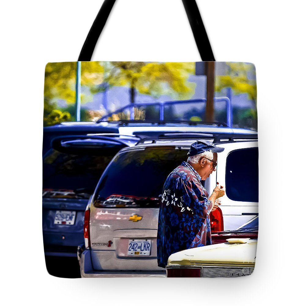 Parking Lot Tote Bag featuring the photograph Beach Days by David Fabian