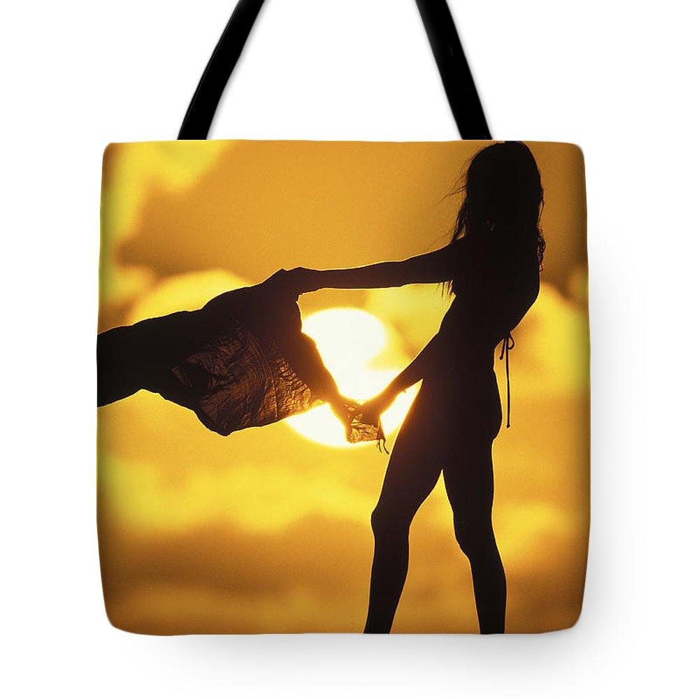Beach Girl Tote Bag featuring the photograph Beach Girl by Sean Davey