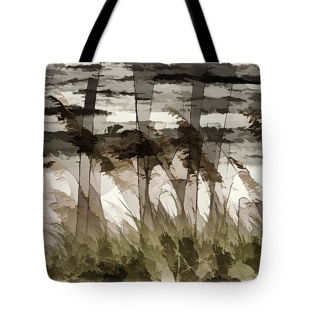 Beach Tote Bag featuring the photograph Beach Grasses by Peter Hogg
