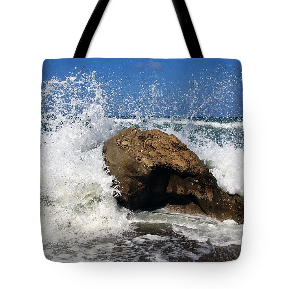 Ocean Tote Bag featuring the photograph Beach Greece by Andre Brands