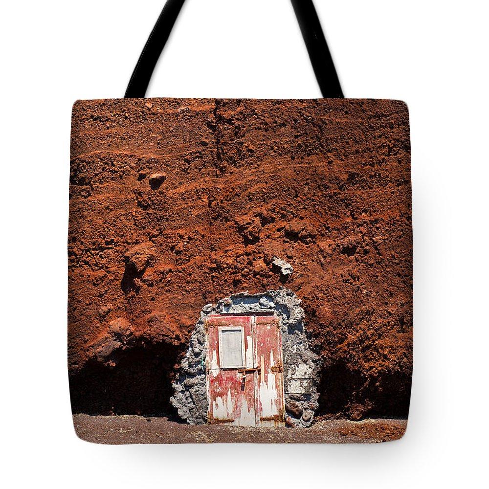 Diy Tote Bag featuring the photograph Beach Hut Santorini Style by Gary Eason