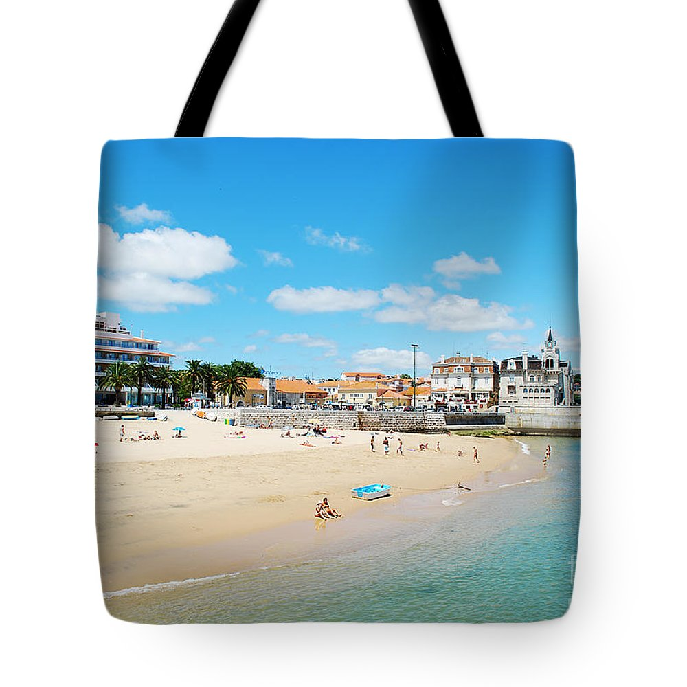 Beach Tote Bag featuring the photograph Beach In Cascais by Luis Alvarenga