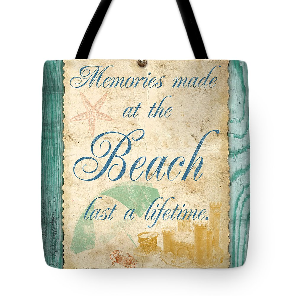 Digital Art Tote Bag featuring the digital art Beach Notes-a by Jean Plout