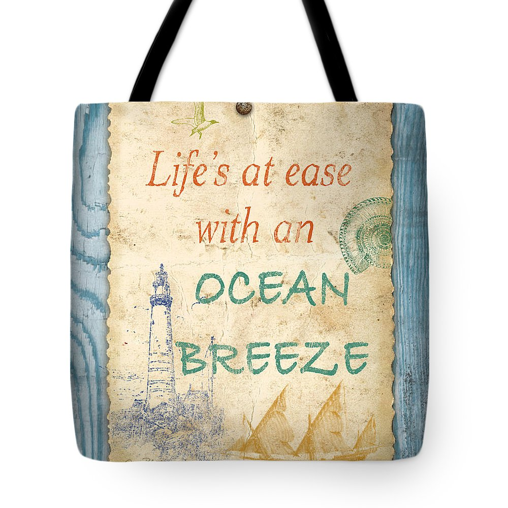 Digital Art Tote Bag featuring the digital art Beach Notes-c by Jean Plout