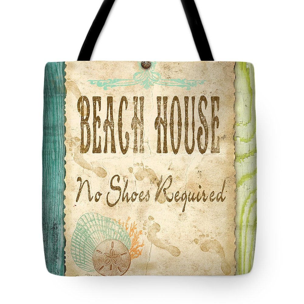 Digital Art Tote Bag featuring the digital art Beach Notes-d by Jean Plout