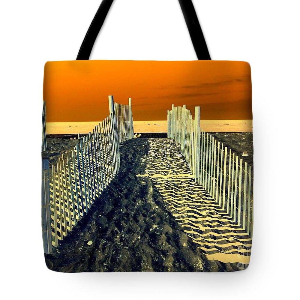 Beach Tote Bag featuring the photograph Beach Path by Ed Weidman