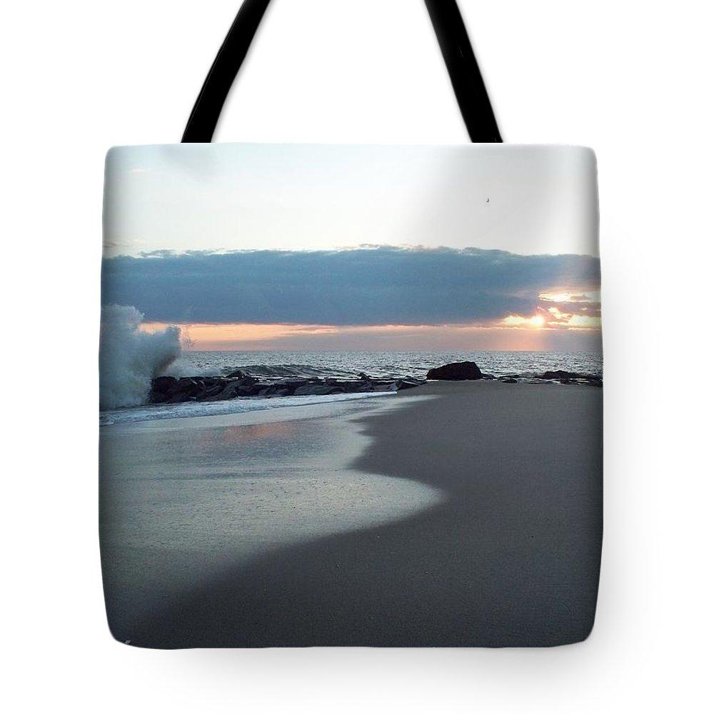 Beach Surf Tote Bag featuring the photograph Beach Surf by Eric Schiabor