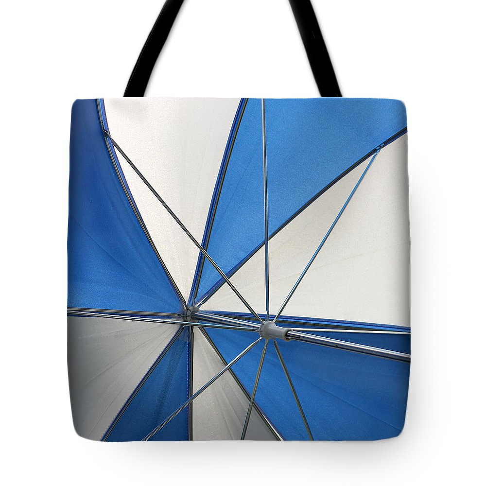 Beach Umbrella Tote Bag featuring the photograph Beach Umbrella by Art Block Collections