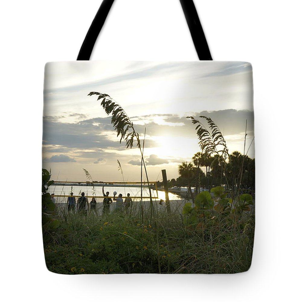 Beach Volleyball Tote Bag featuring the photograph Beach Volleyball by Laurie Perry