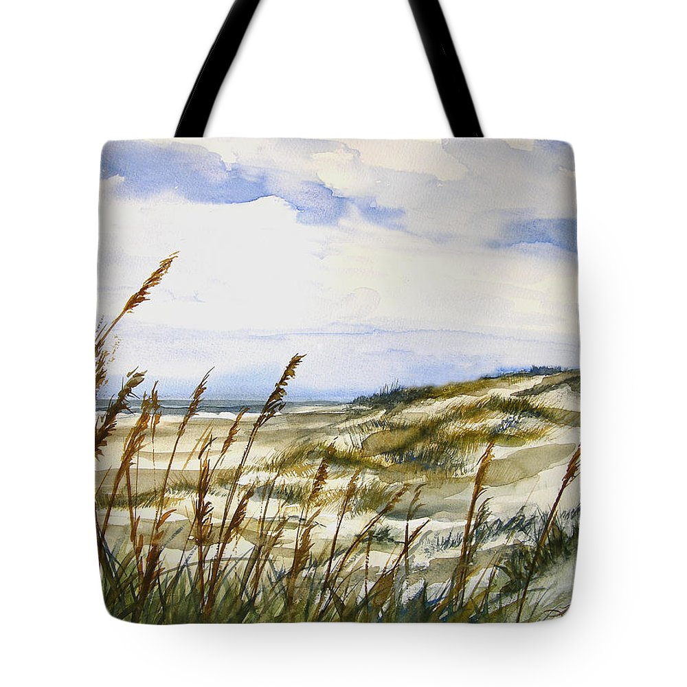 Watercolor Tote Bag featuring the painting Beach Watercolor 3-19-12 Julianne Felton by Julianne Felton
