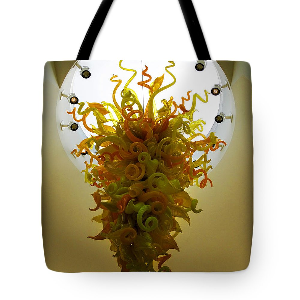 Beacon Gold Chandelier Tote Bag featuring the photograph Beacon Gold Chandelier by David T Wilkinson