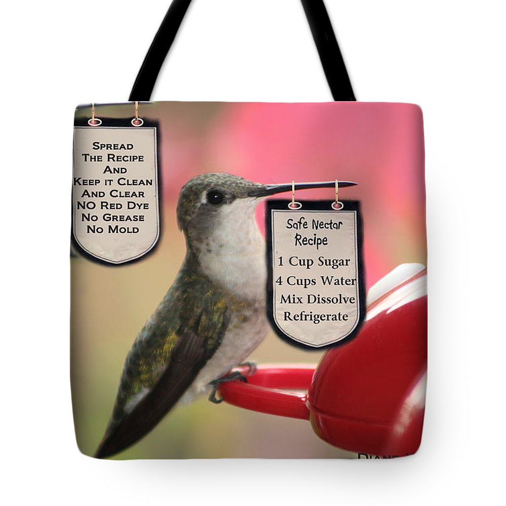Art Tote Bag featuring the digital art Beak Banners by Diane V Bouse