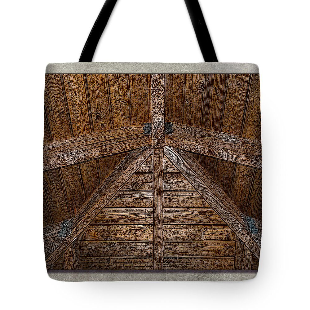 Wood Tote Bag featuring the photograph Beams 2 by WB Johnston