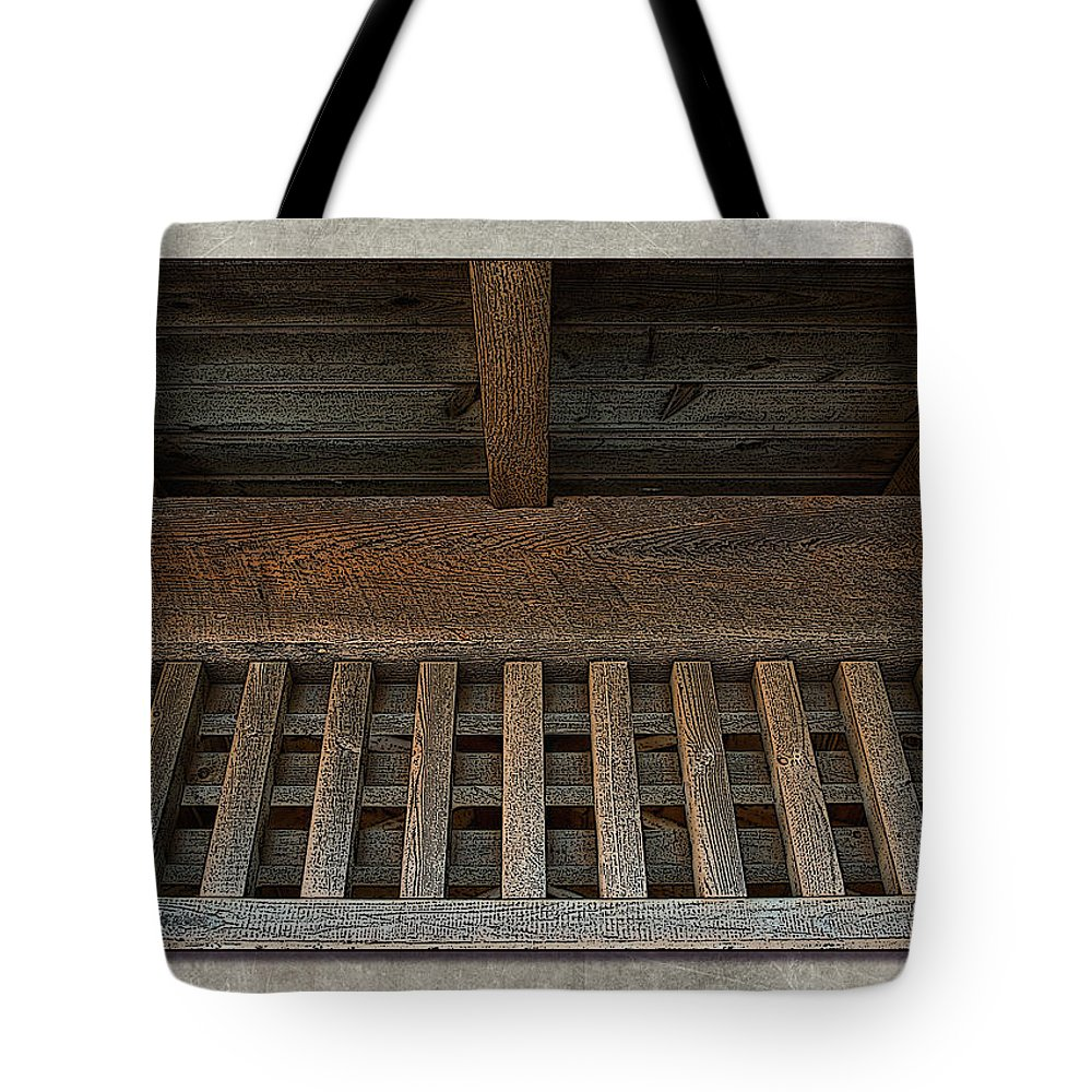 Wood Tote Bag featuring the photograph Beams by WB Johnston