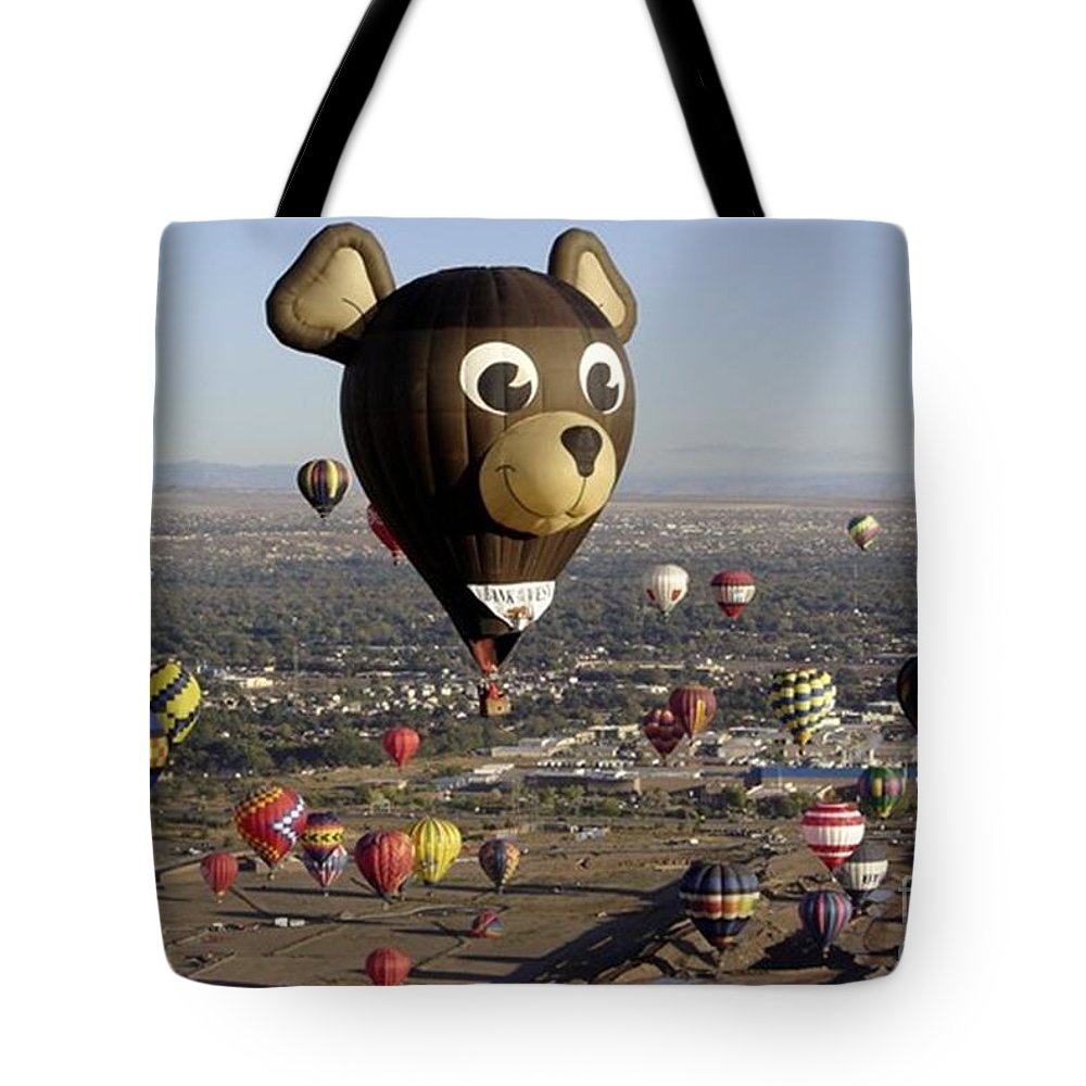 Albuquerque Tote Bag featuring the photograph Bear by Mary Rogers