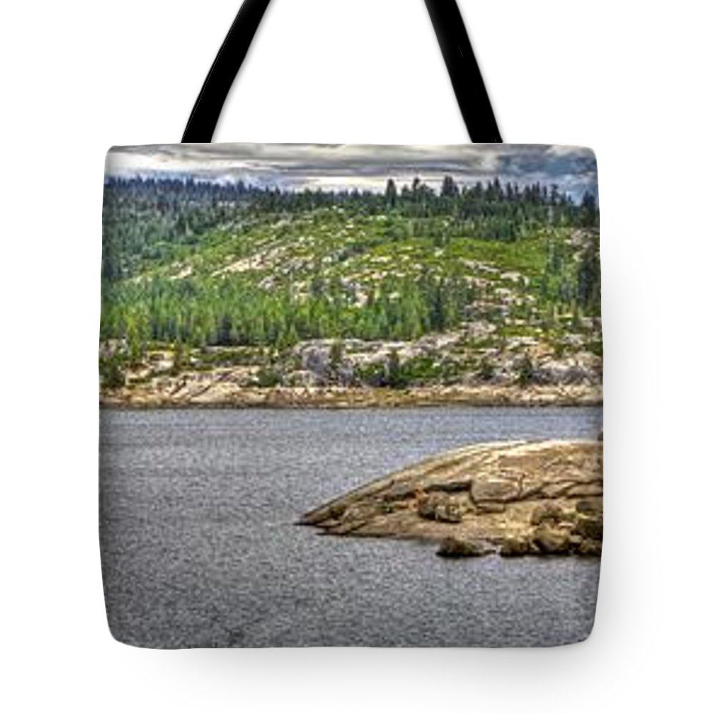 Ponderosa Pines Tote Bag featuring the photograph Bear River Creek Reservoir by SC Heffner