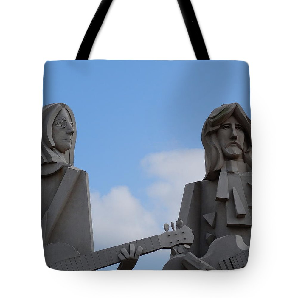 Music Tote Bag featuring the photograph Beatles by Dan Sproul