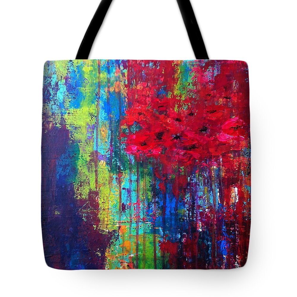 Abstract Art Tote Bag featuring the painting Beautiful Abstraction by Julie Janney