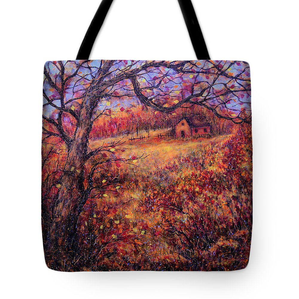 Autumn Tote Bag featuring the painting Beautiful Autumn by Natalie Holland