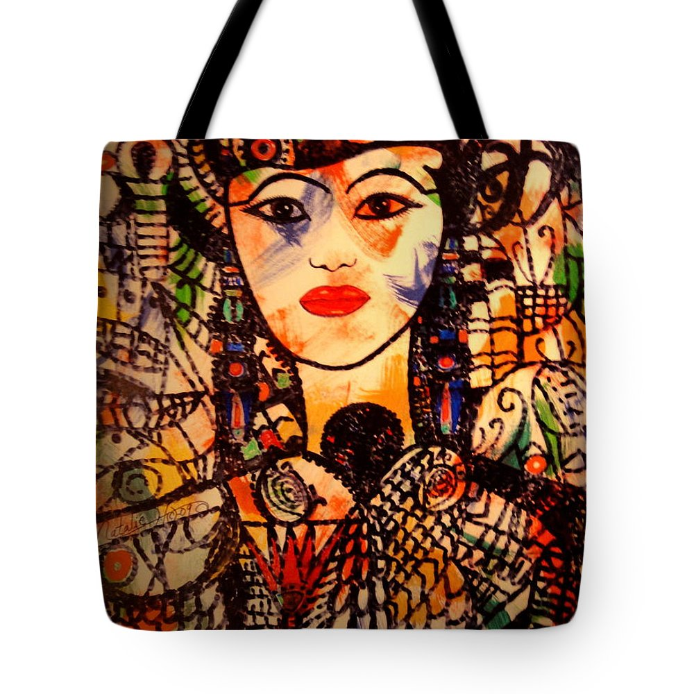 Woman Tote Bag featuring the painting Beautiful Banafrit by Natalie Holland