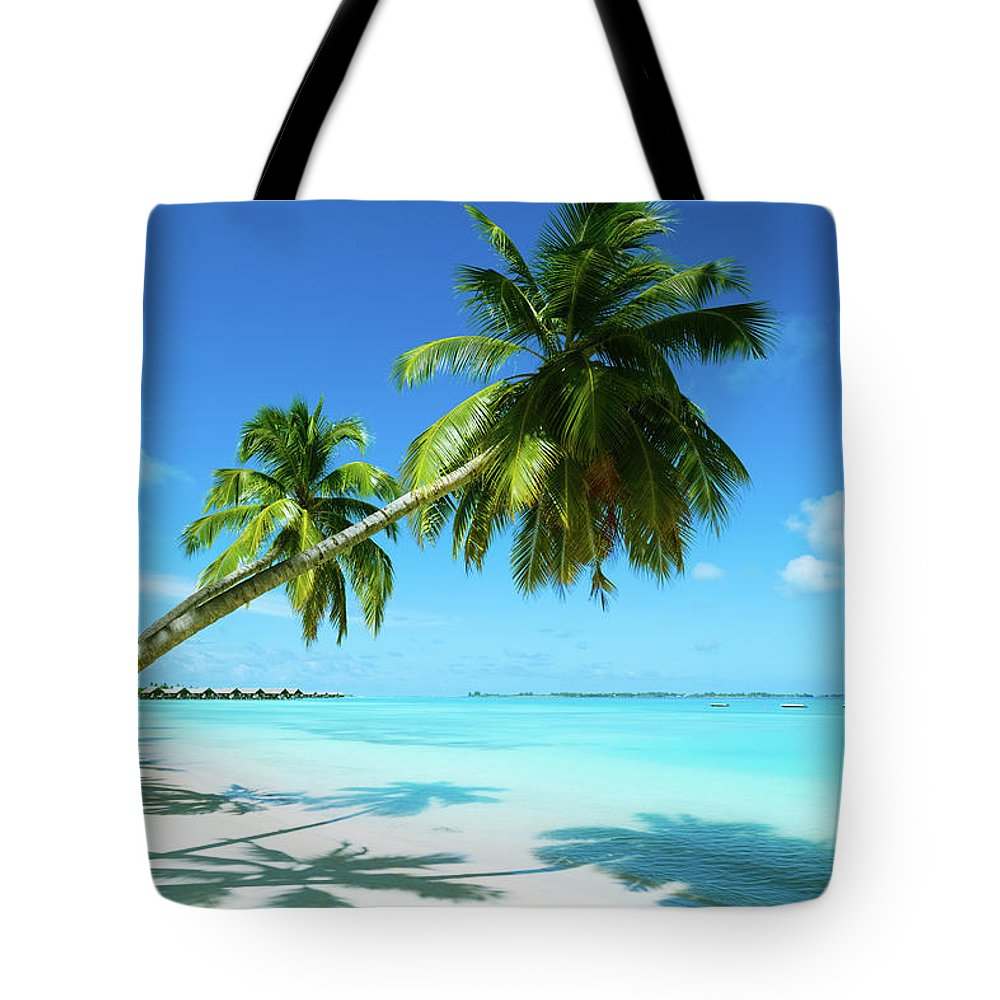 Water's Edge Tote Bag featuring the photograph Beautiful Beach Resort by Phototalk