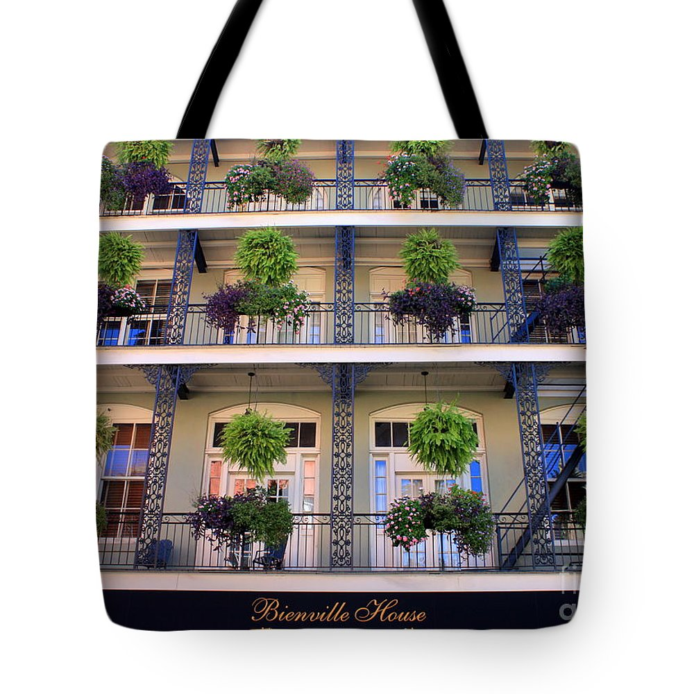 New Orleans Tote Bag featuring the photograph Beautiful Hotel In New Orleans by Carol Groenen