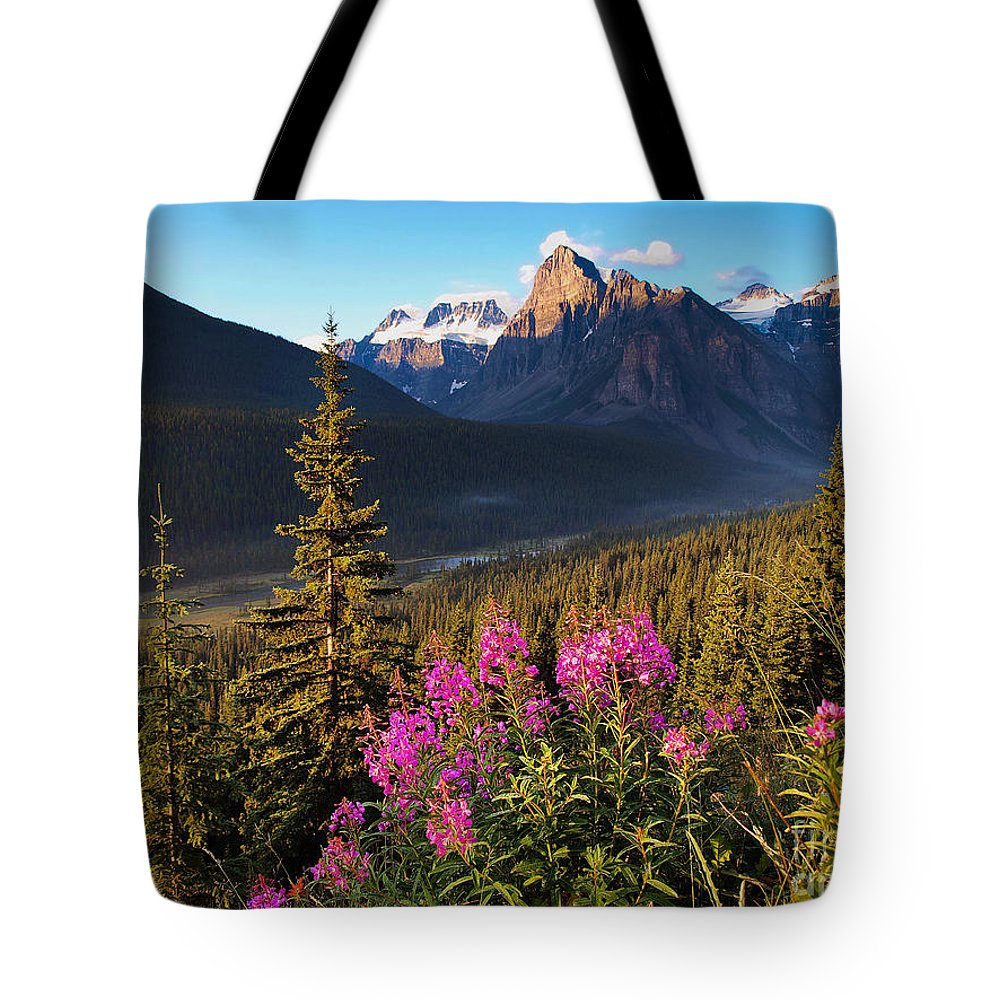 Tourism Tote Bag featuring the photograph Rocky Mountains Sunset by JR Photography