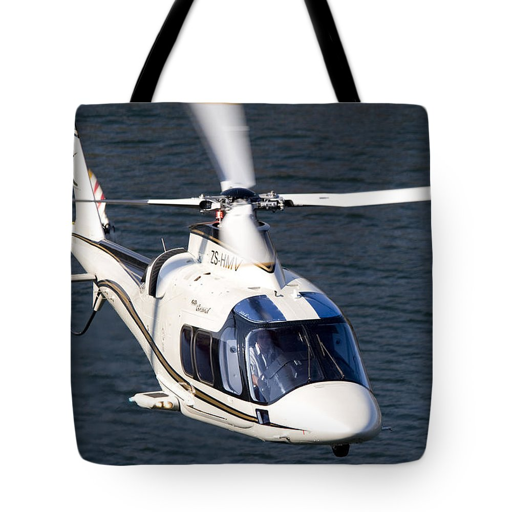 Agustawestland A109 Grand Tote Bag featuring the photograph Beautiful Lines by Paul Job