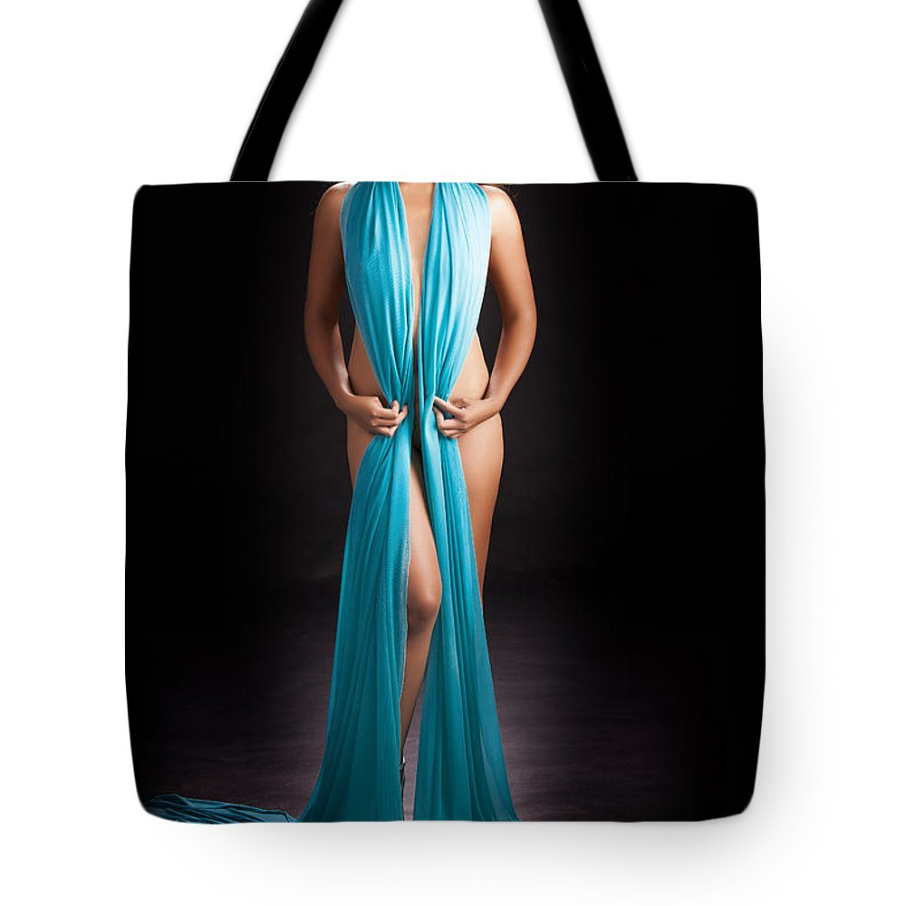 Asian Nude Tote Bag featuring the photograph Beautiful Oriental Asian by Kendree Miller