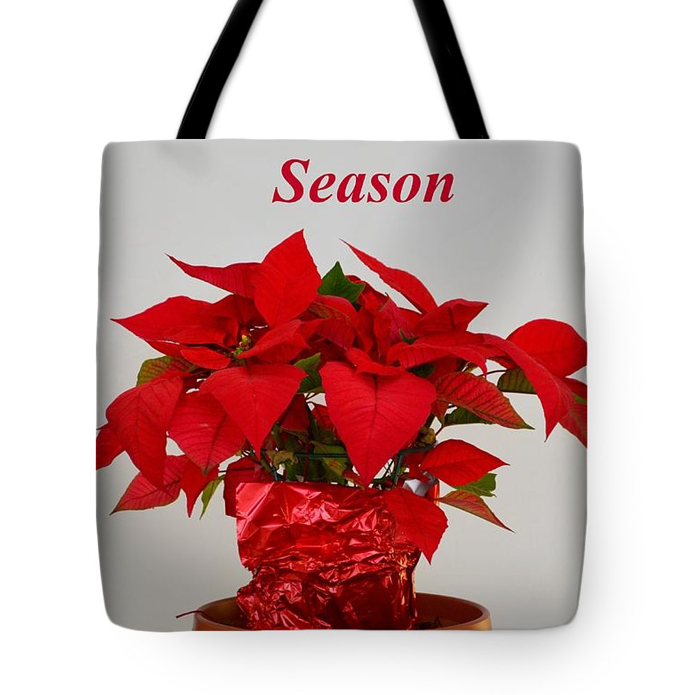 Poinsettia.mexico Tote Bag featuring the photograph Beautiful Poinsettia Plant - No 2 by Mary Deal