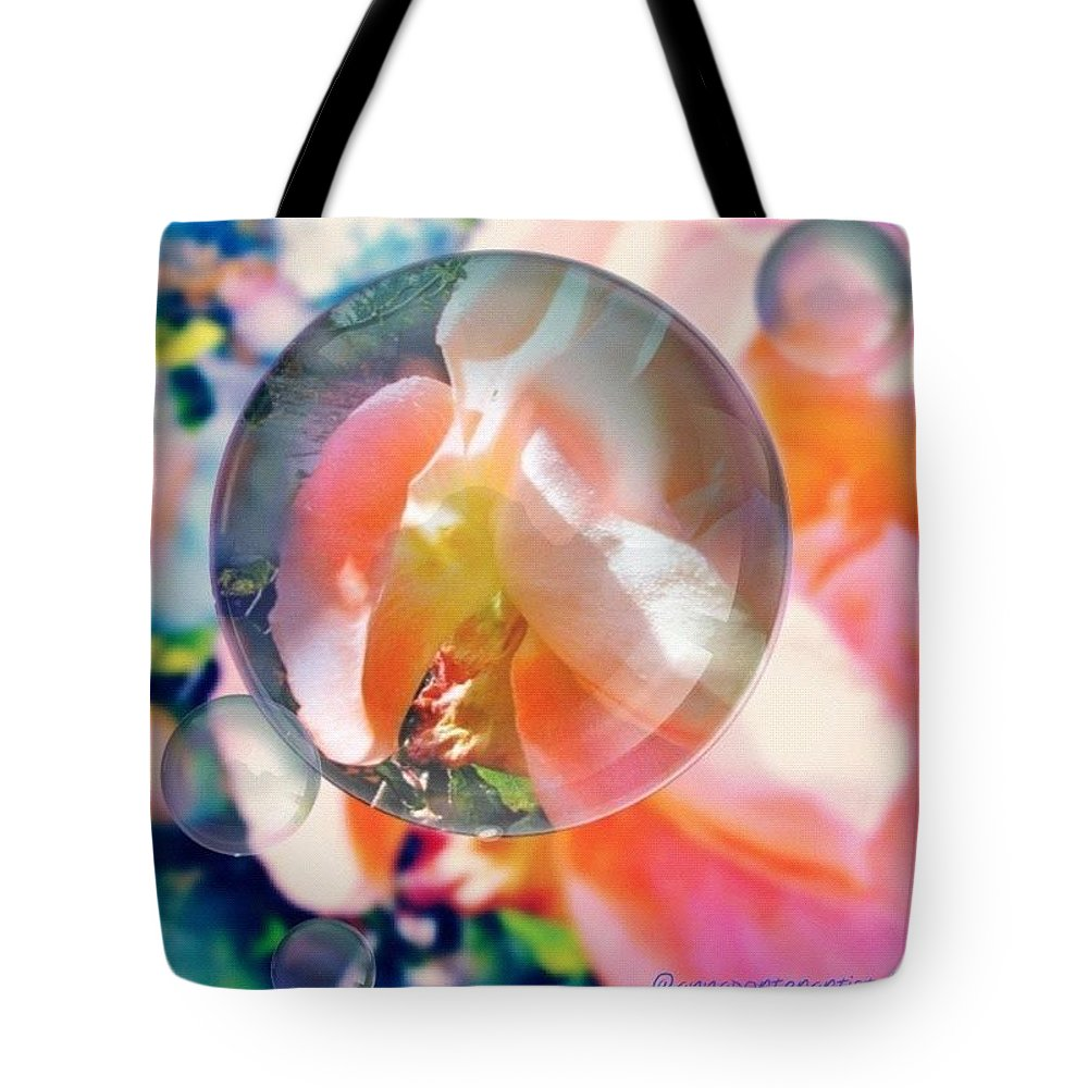 Floral Tote Bag featuring the photograph Beautiful Rose Marble - Autumn Light by Anna Porter