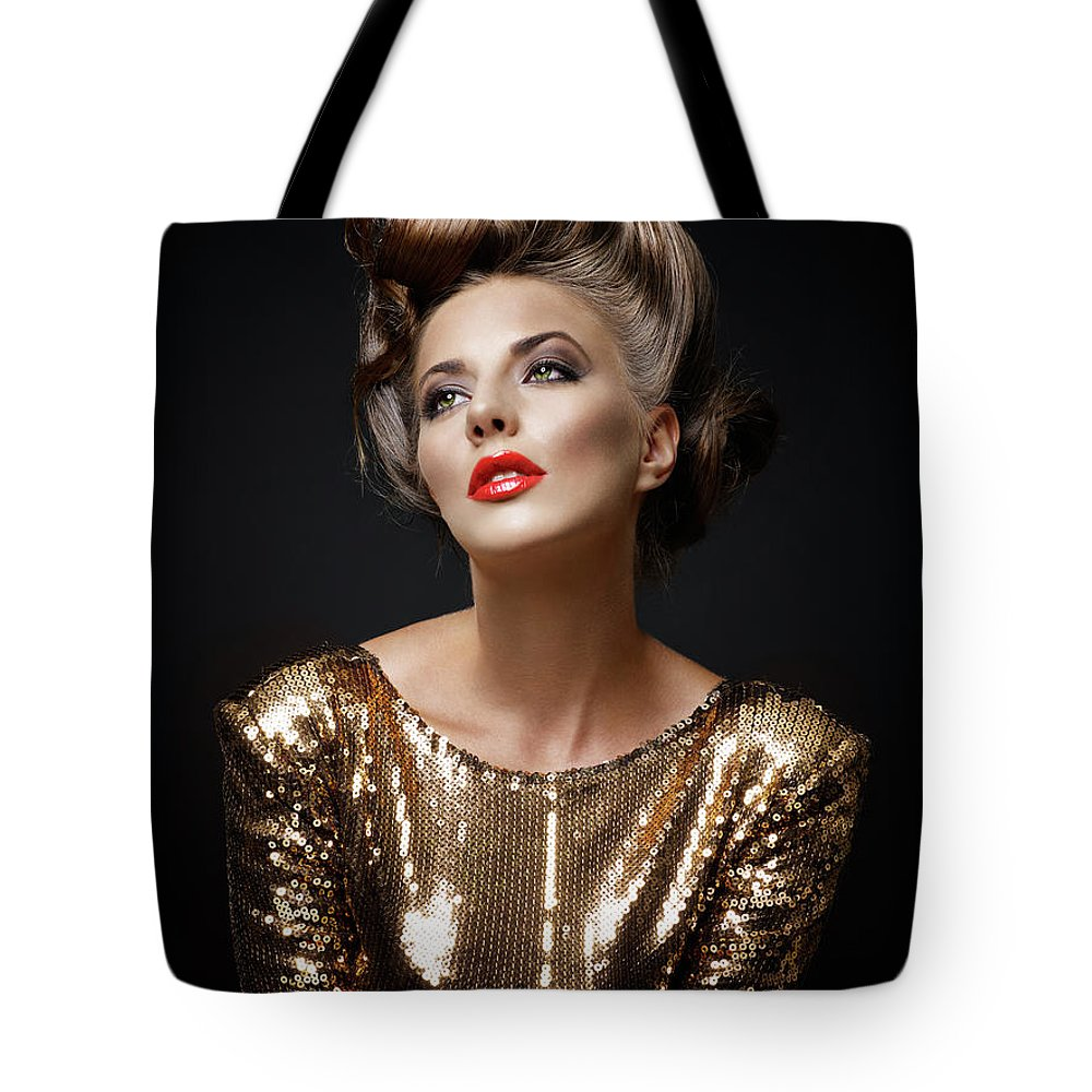 Cool Attitude Tote Bag featuring the photograph Beautiful Woman by Millann