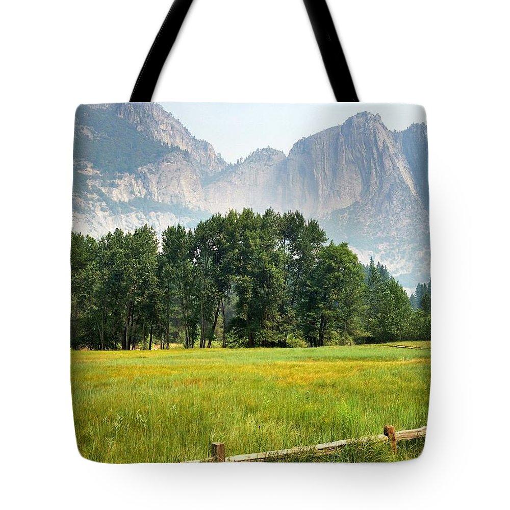Beautiful Yosemite Meadow Tote Bag featuring the photograph Beautiful Yosemite Meadow by Christine Owens