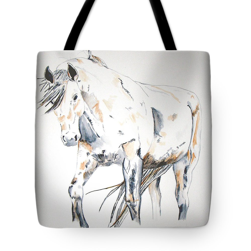 Horse Tote Bag featuring the painting Beauty by Crystal Hubbard