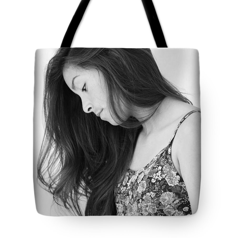 Girl In Flowers Tote Bag featuring the photograph Beauty by Marianne Jimenez
