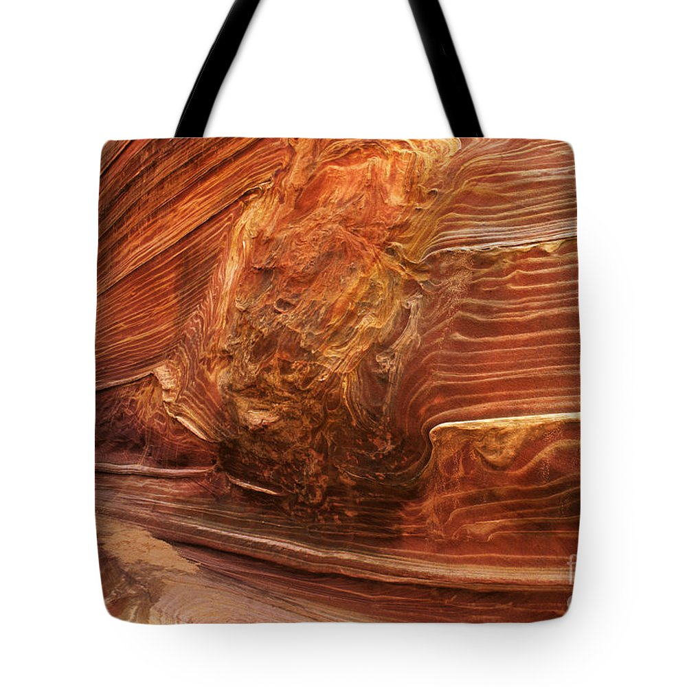 The Wave Tote Bag featuring the photograph Beauty Of Sandstone Arizona by Bob Christopher