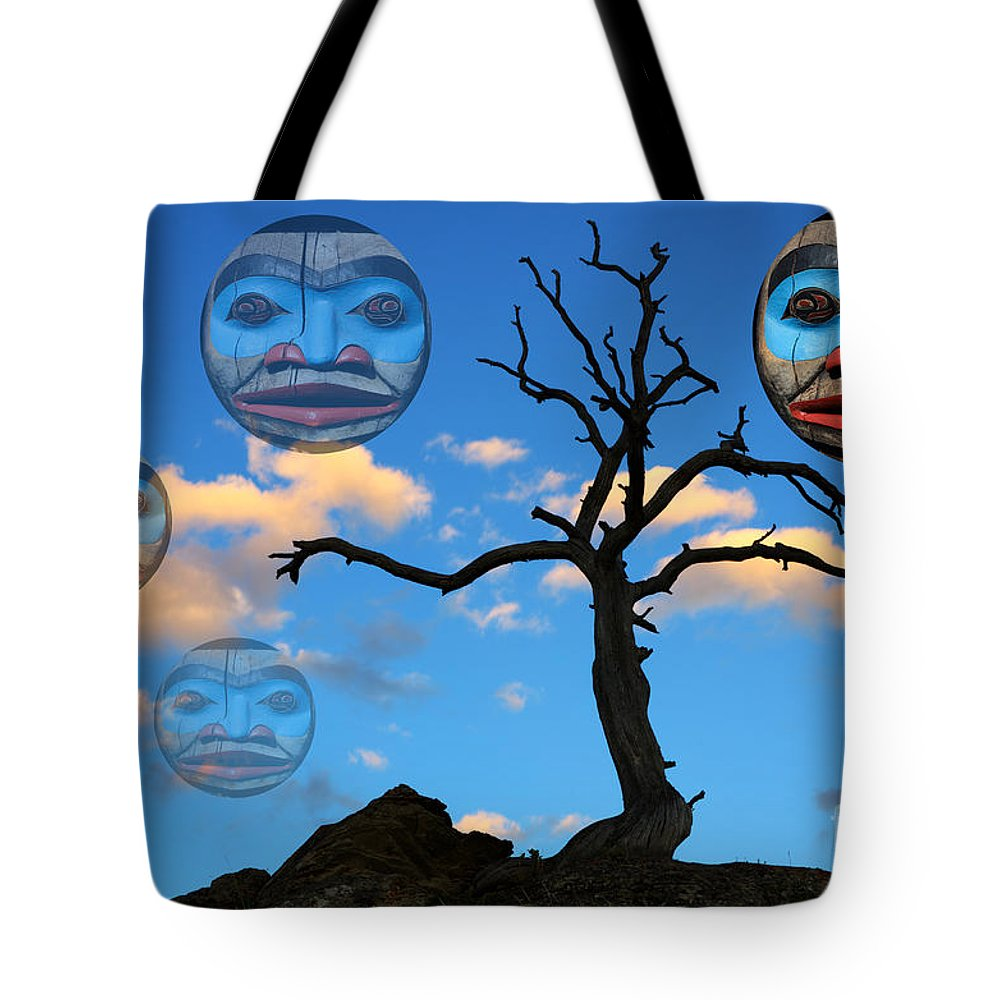 Totem Tote Bag featuring the photograph Magic Of The Pacific Northwest 3 by Bob Christopher