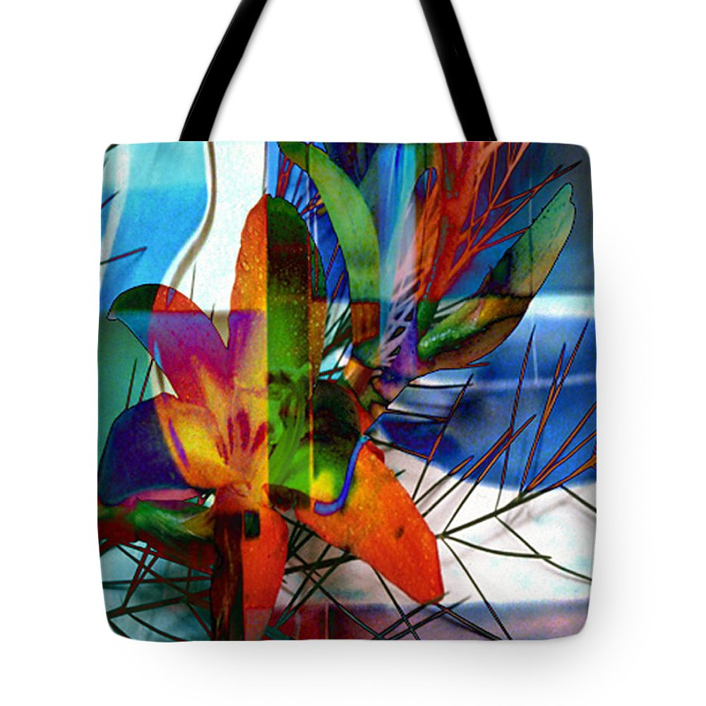 Digital Image Tote Bag featuring the digital art Beauty by Yael VanGruber