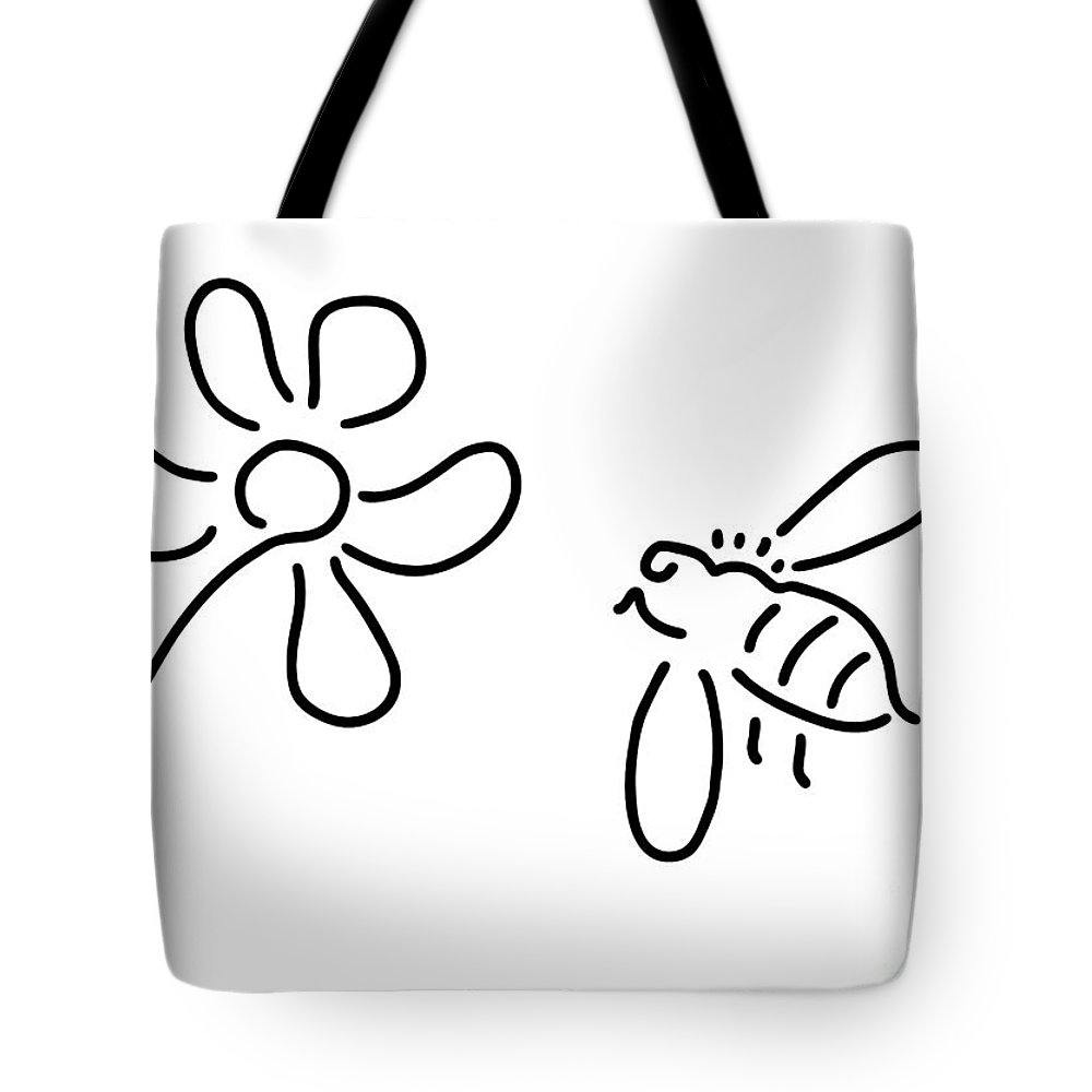 Nature Bee Tote Bags