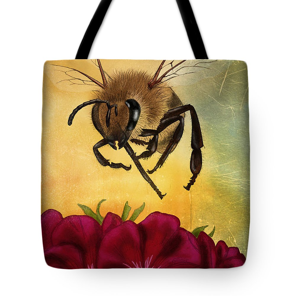 Bee Tote Bag featuring the digital art Bee I by April Moen