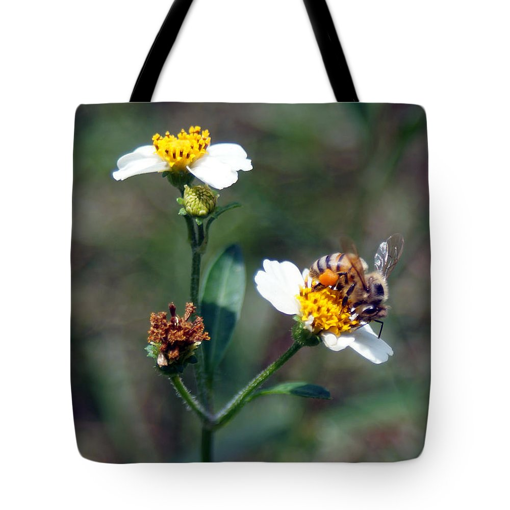 Nectar Tote Bag featuring the photograph Bee- Nectar by Miguel Hernandez