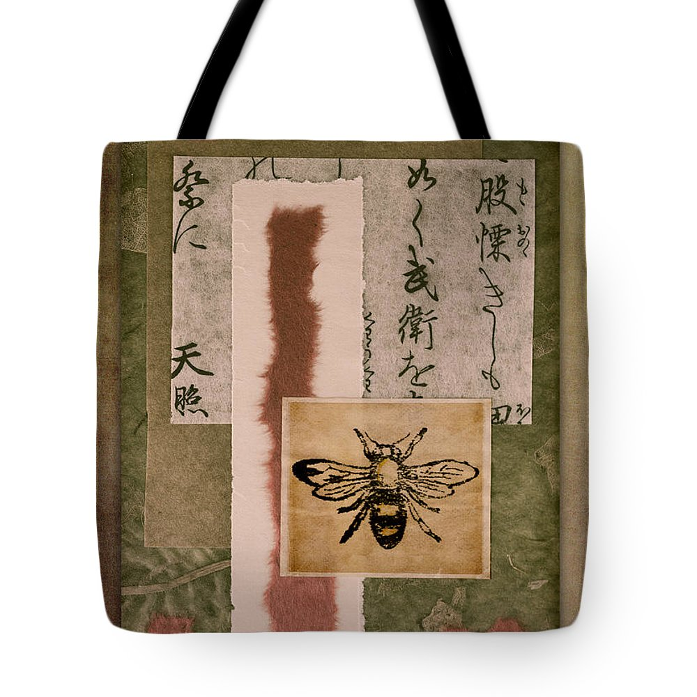 Carol Leigh Tote Bag featuring the photograph Bee Papers by Carol Leigh