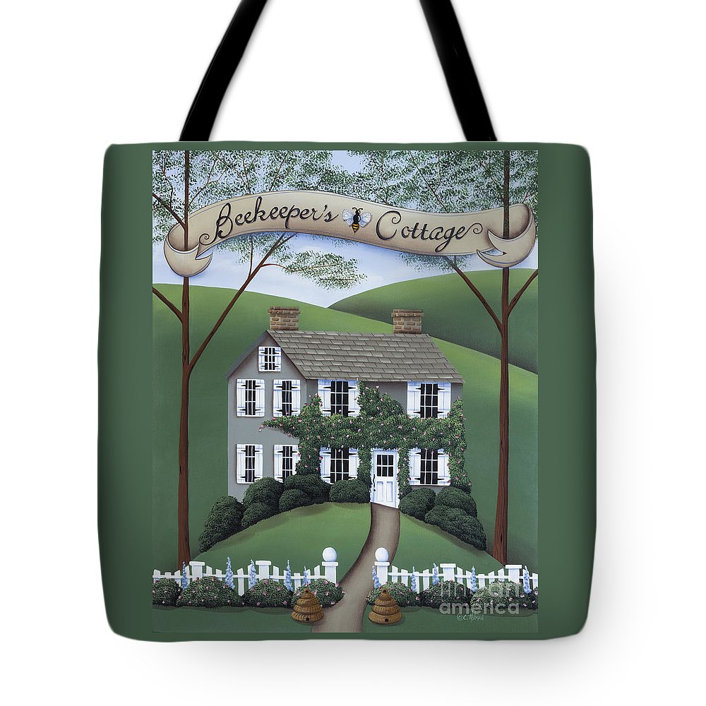 Art Tote Bag featuring the painting Beekeeper's Cottage by Catherine Holman