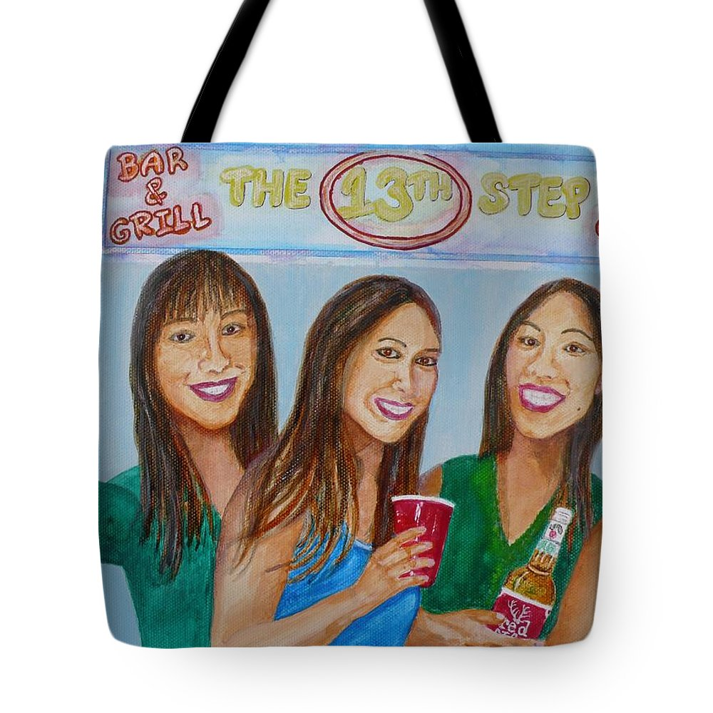 Beer Pong Tote Bag featuring the painting Beer Pong Champs by Anna Ruzsan