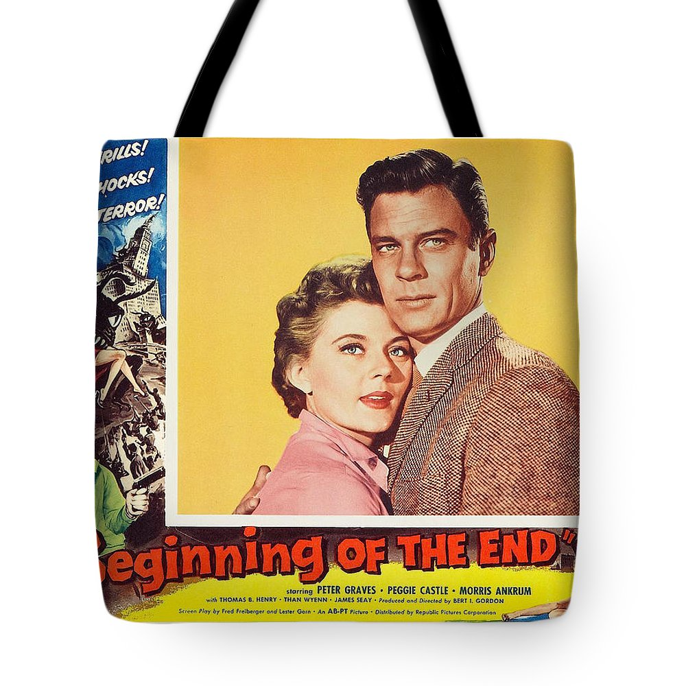 Peter Graves Tote Bag featuring the photograph Beginning Of The End 1957 by Mountain Dreams