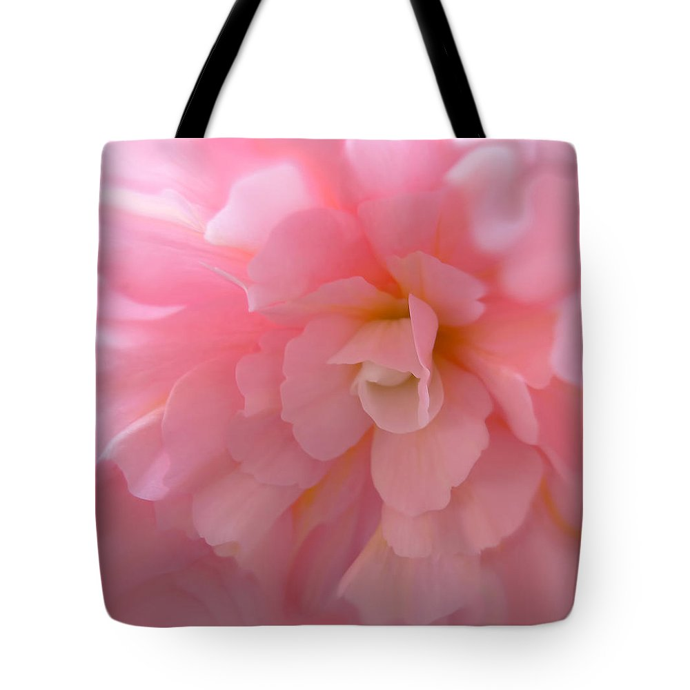 Begonia Tote Bag featuring the photograph Begonia Flower Passion Pink by Jennie Marie Schell