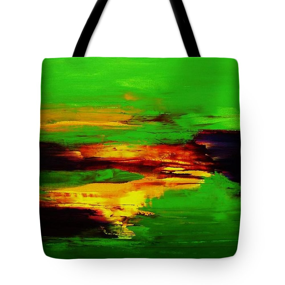 Abstract Tote Bag featuring the painting Being And Becoming by Frances Ku
