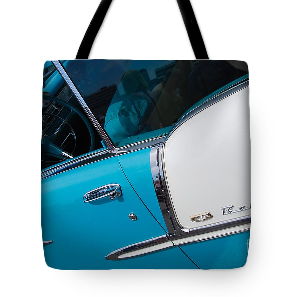 Chevrolet Tote Bag featuring the photograph Bel-air by Mark Spearman
