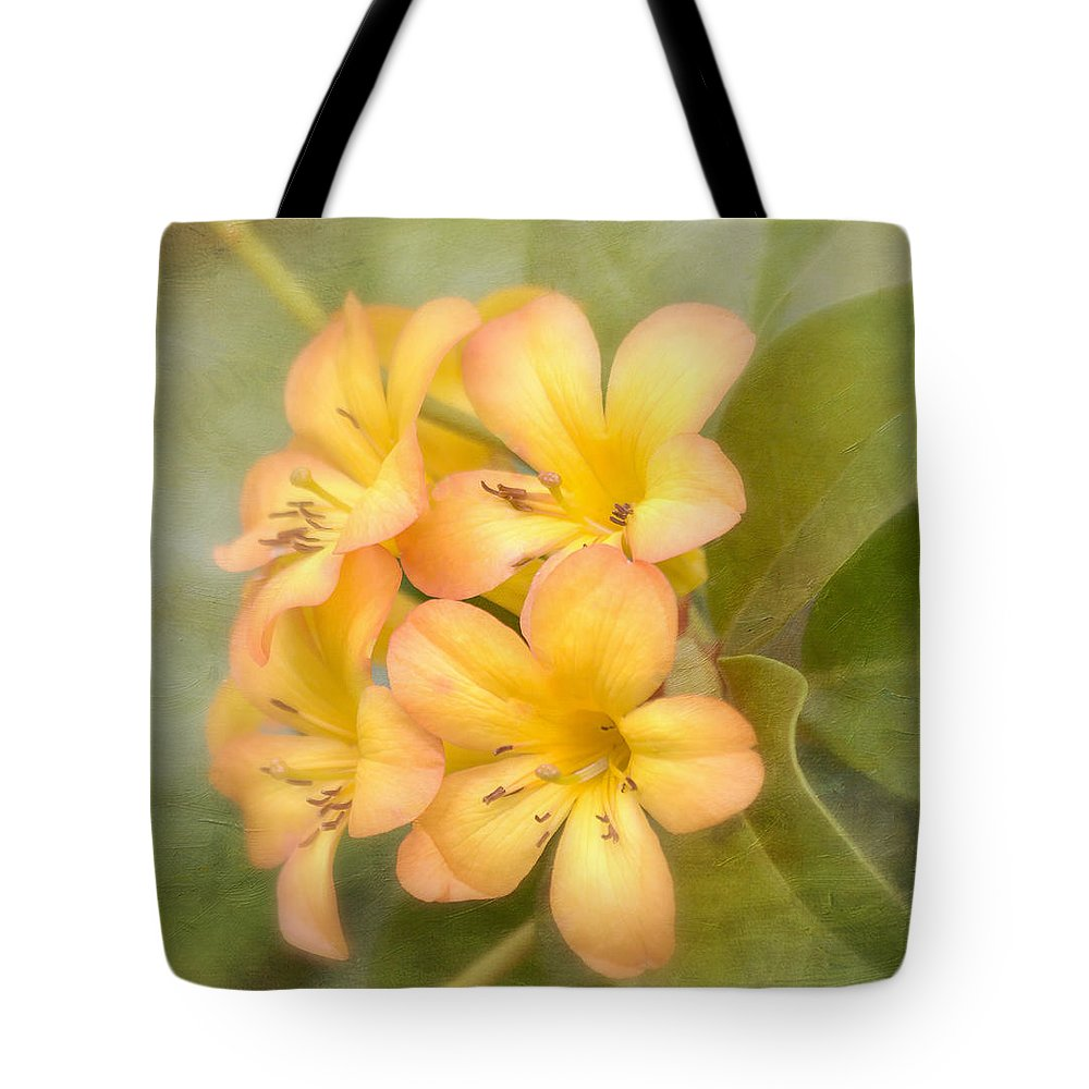 Yellow Flower Tote Bag featuring the photograph Believe by Kim Hojnacki